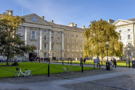 Dublin, Ireland, 27 October 2012: Trinity College University of Dublin
