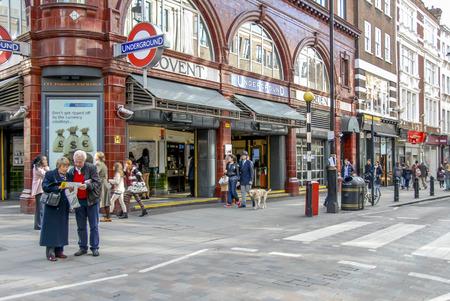 London, UK, 30 October 2012: Covent Garden Underground