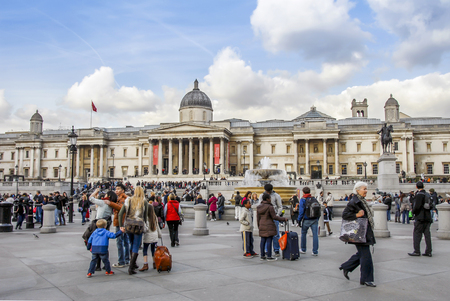 London, UK, 30 October 2012: Trafalgar Square Editorial