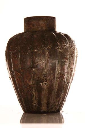 inscriptions: Bronze pot with inscriptions