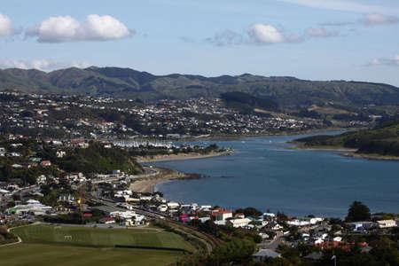 Porirua harbour New Zealand Standard-Bild