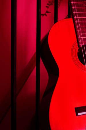 Guitar at downstairs entrance