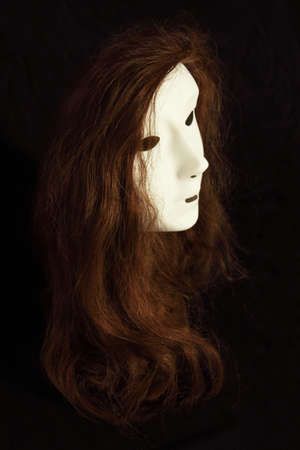 Face mask with wig