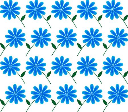 background of blue flowers, cornflower, pattern, floral.
