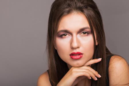 studio shots: Portrait of a beautiful girl
