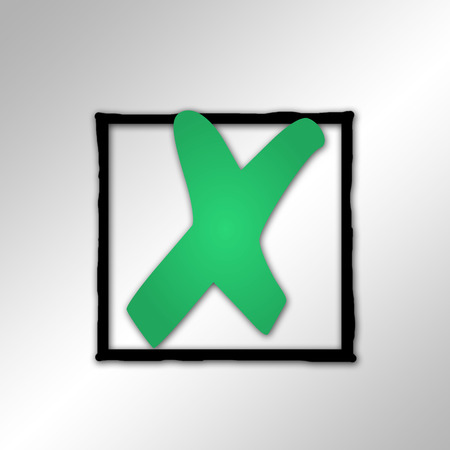 disapprove: Green Cross Mark