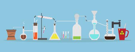 onderzoek: laboratorium onderzoek Stock Illustratie
