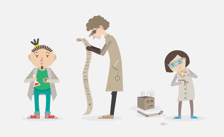 interdisciplinary: set of scientists, vector Illustration