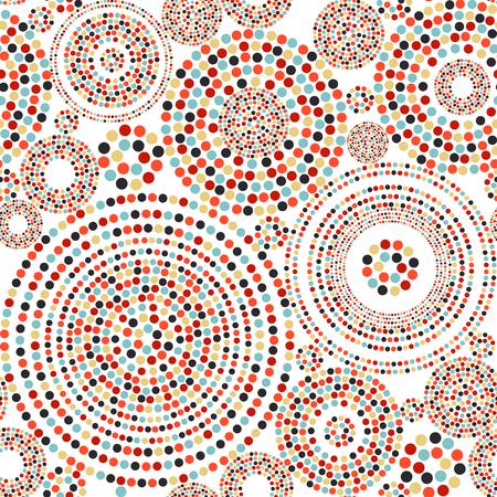 Seamless avec des cercles en pointillés