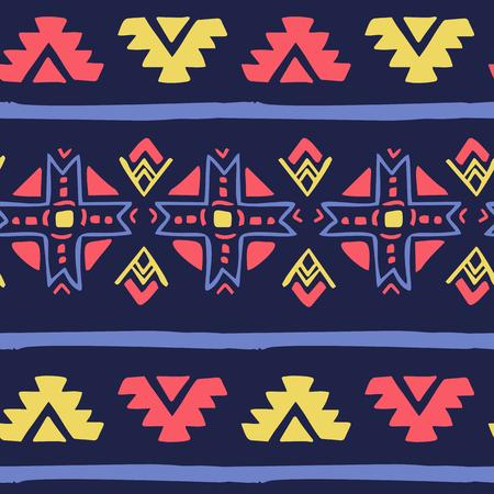 etnic: Seamless geometric etnic color pattern background. For textile, backdrop etc.