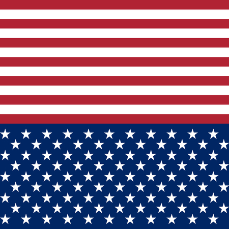 USA flag star vector seamless pattern background. White and red stripes and stars on dark blue background. For web backdrop, paper