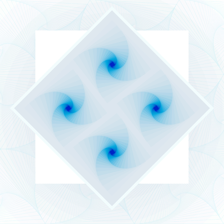 Rhombus spirals. Vector optical illusion abstract background in blue pastel colors for your cover, banner etc. Stok Fotoğraf - 76469324