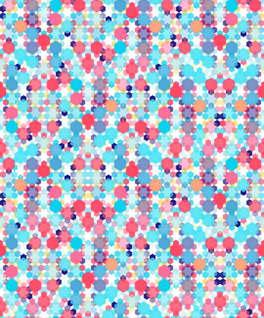 Colorful geometric hexagon seamless vector pattern for web and textile. Stok Fotoğraf - 77061054