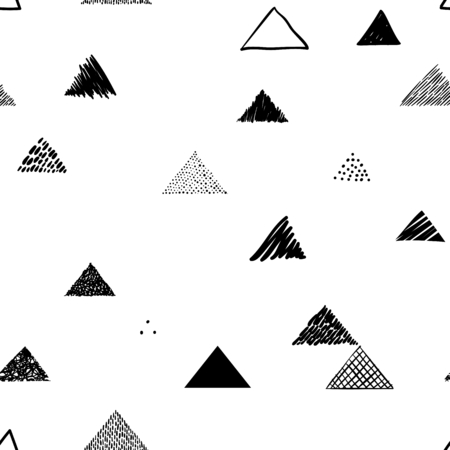 Seamless triangles pattern. Vector abstract hand drawn background for your design. Stok Fotoğraf - 80563081