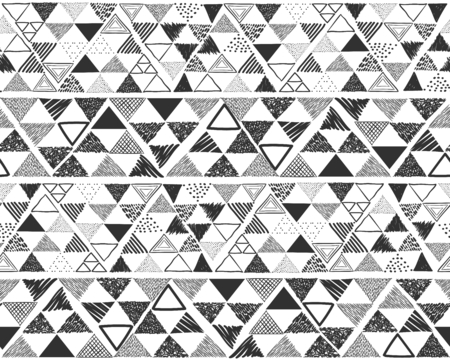 Vector seamless pattern in grey, black and white.