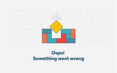 Error page design concept vector illustration.