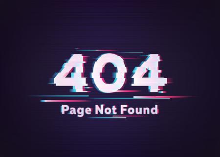 404 Error. Page Not Found. Glitch Vector Illustration. Stockfoto