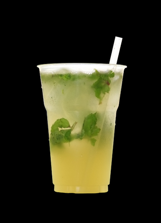 cocktail drinks: A glass of street herbal cocktail