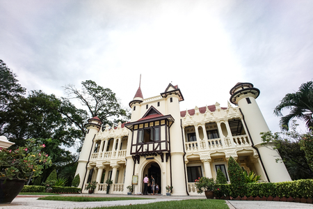 french renaissance: Chalee Mongkol Palace at Sanam Chan Royal Palace in Nakhorn Pathom. This palace is one of the finest in Sanam Chan Royal Palace. It was builded in 1908. The distinctive point is the design which mixed of Frenchs renaissance and Englishs half timbered. N Editorial