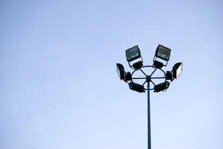halogen lighting: Spotlight or stadium light for using in the stadium or park.
