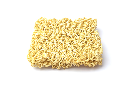 instance: Instance noodle on white background.