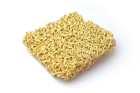 instance: Oblique instance noodle on white background. Stock Photo