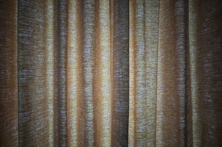 stage decoration abstract: Brown curtain backdrop. Stock Photo