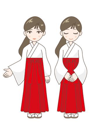 shrine: shrine maiden 2 pattern Illustration