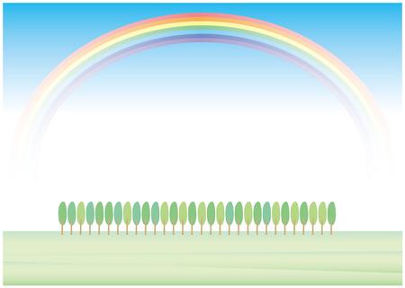 roadside: Roadside tree and rainbow