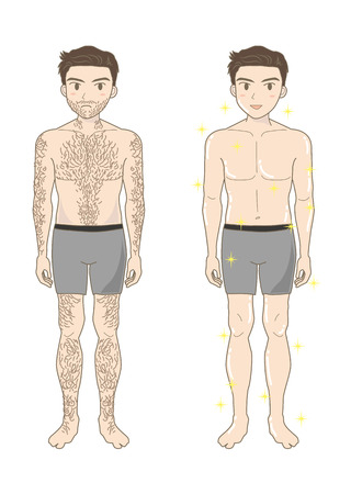 Mens Beauty depilation Ilustrace
