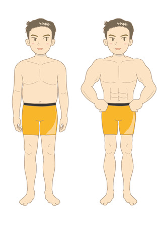 pectoral: Mens Beauty muscle body (youth-A) Illustration