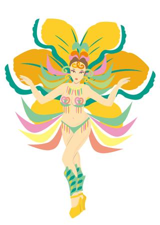 caribbean party: Brazilian samba dancer