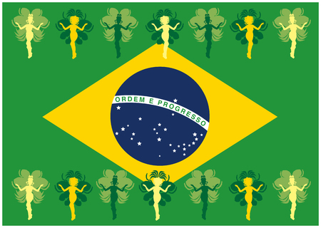 the whole body: Brazilian samba dancer