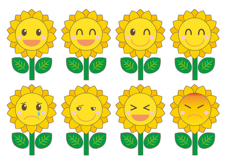 personification: Sunflower facial expression