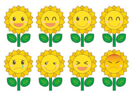 Sunflower facial expression