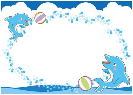 anthropomorphism: The frame of dolphin-B Illustration