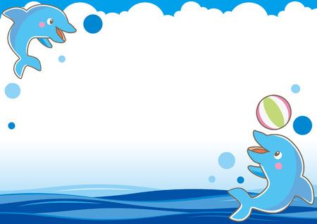 thunderhead: The frame of dolphin-D Illustration