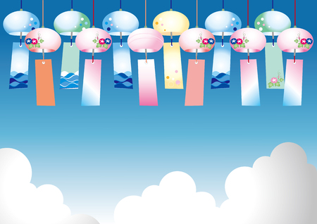 Summer image of wind chime