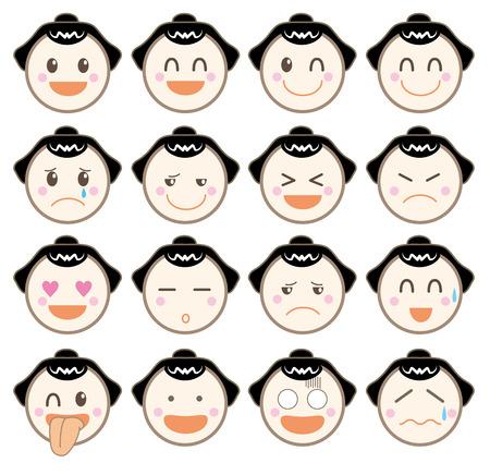 Icon emotion sticaer-sumo wrestler type