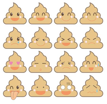 Icon emotion Sticaer-pile Of Poo Emoji type