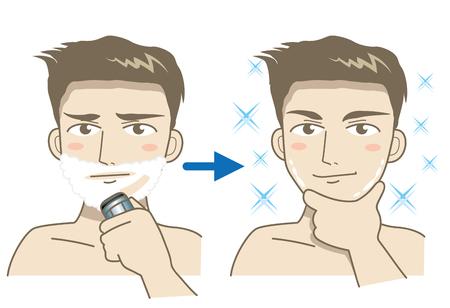 Mannelijk scherenbeeld Stock Illustratie