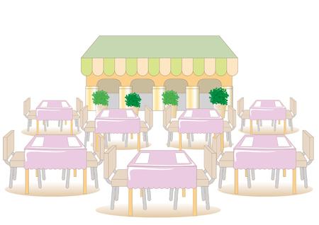 Landscape of cafeteria