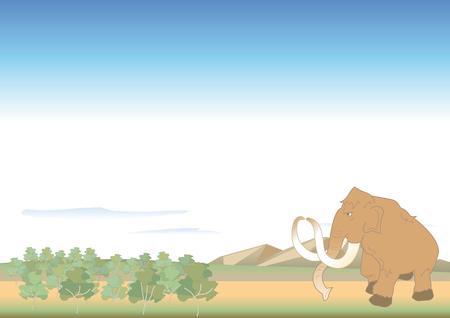 マンモス ベクトル図が付いている谷。