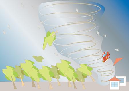 Disaster images of tornado Illustration