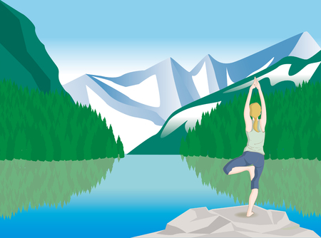 Yoga pose · Nature Ilustração