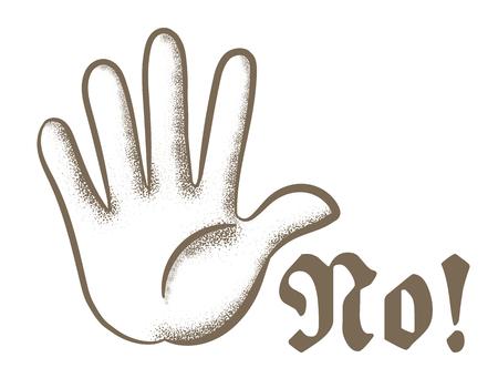 Retro hand jester-NO!