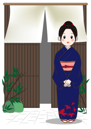 Hotel's landlady, welcome image illustration.