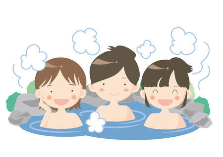 Hot spring image of womens group.