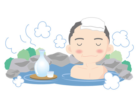 Hot spring image-Man