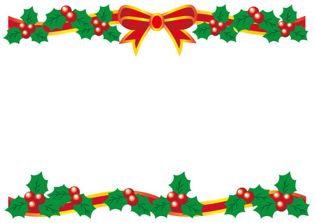 Christmas Holly pattern vector illustration